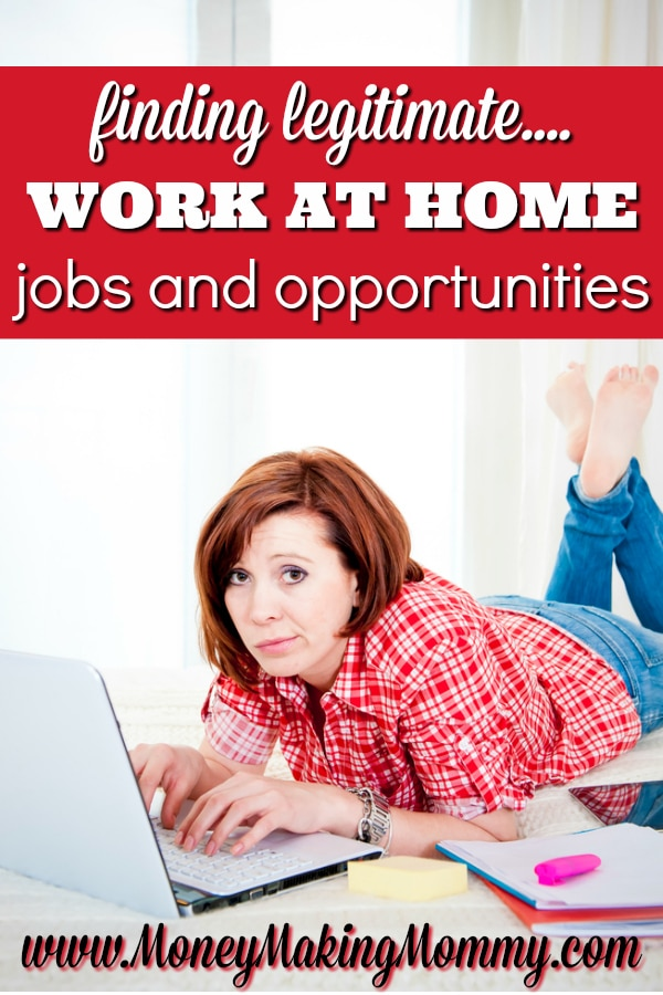 Finding Legitimate Work at Home Jobs