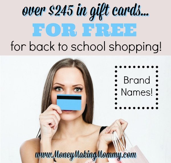 Earn Free Gift Cards for School Clothes Shopping