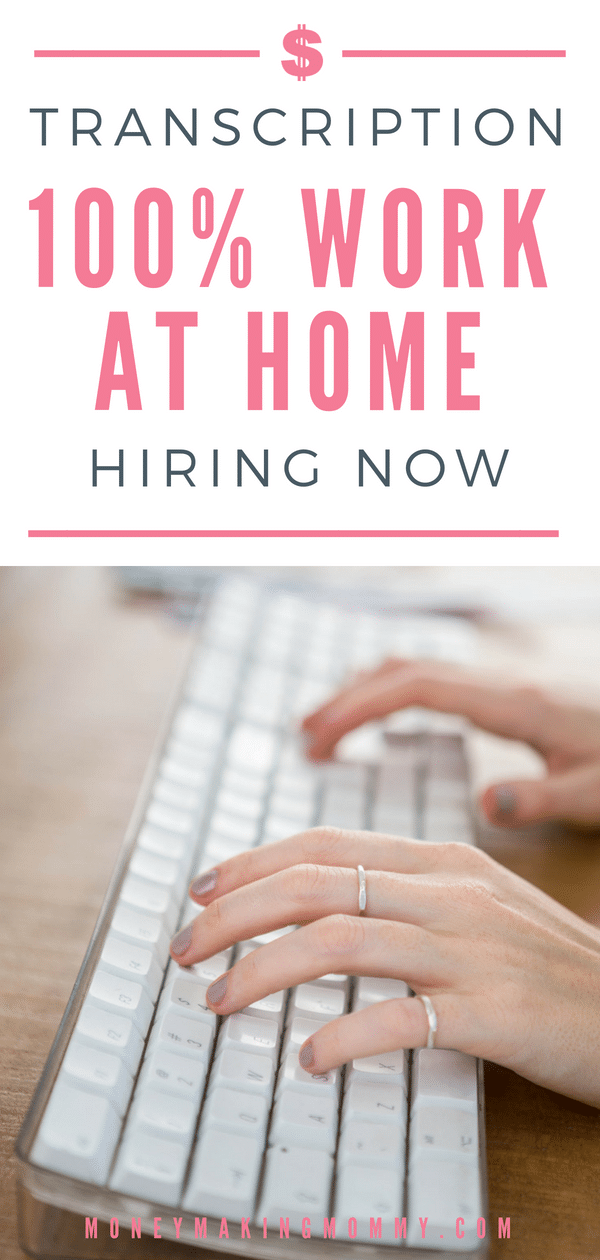 Have transcription skills? Here's a 100% work from home transcription opportunity. Find out more about requirements and pay.  #transcriptionjobsfromhome #transcriptionjobs
