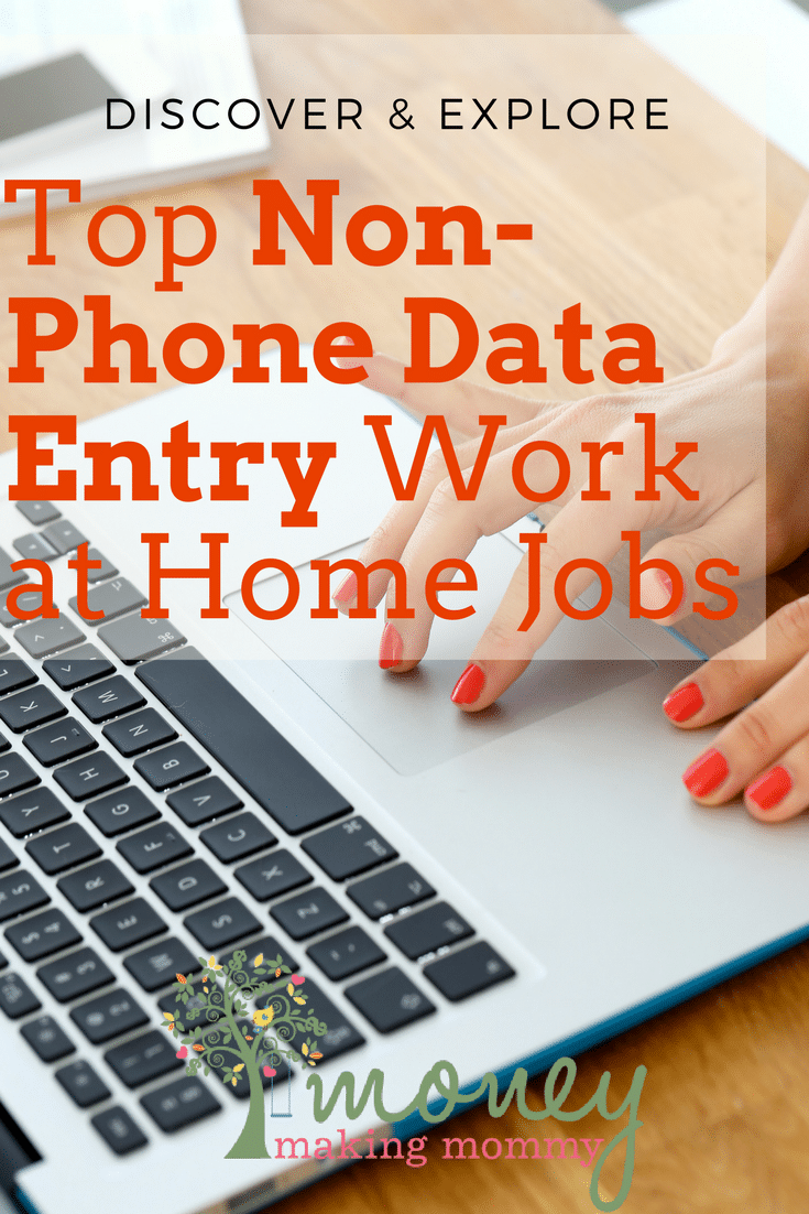 Top Non-Phone Data Entry Work At Home Jobs