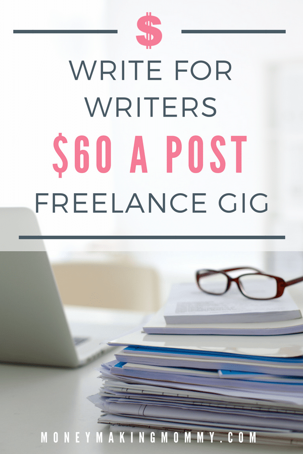 If you can write unique & interesting articles about writing, blogging, getting published & things along those lines - here's a work at home writing job for you. - MoneyMakingMommy.com -  https://www.moneymakingmommy.com/writers-weekly-paying-60-post/ #writingjobs #writinggigs #workathome