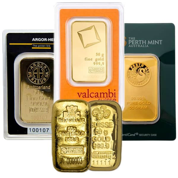 gold bar 50 gram