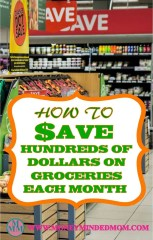 How To Save Hundreds of Dollars On Groceries