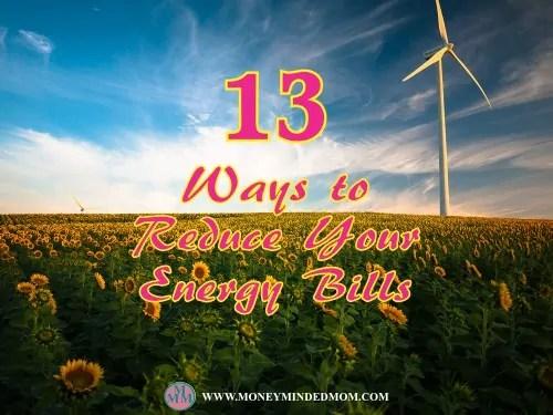 13 Ways to Reduce Your Energy Bills
