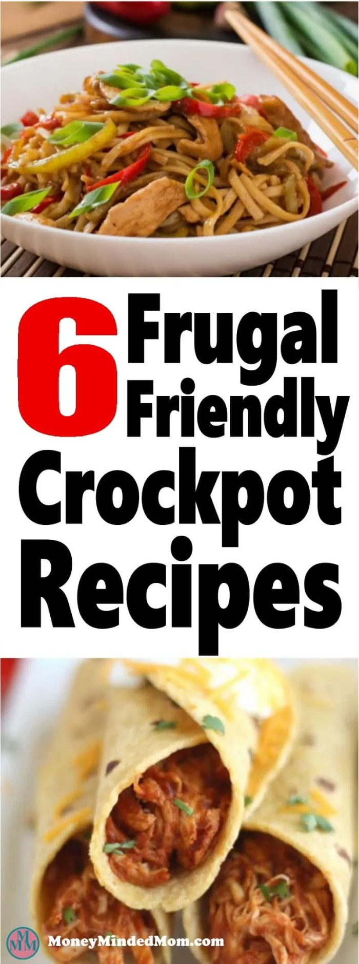 6 Frugal Friendly Crock Pot Meals ~ Crock pot meals are a great time and money saver in the kitchen. Check out these 6 delicious crockpot recipes that your family is sure to love!! crockpot | slowcooker | meal planning | cheap meals | frugal recipes | recipes #crockpot #mealplanning #cheapmeals #recipes