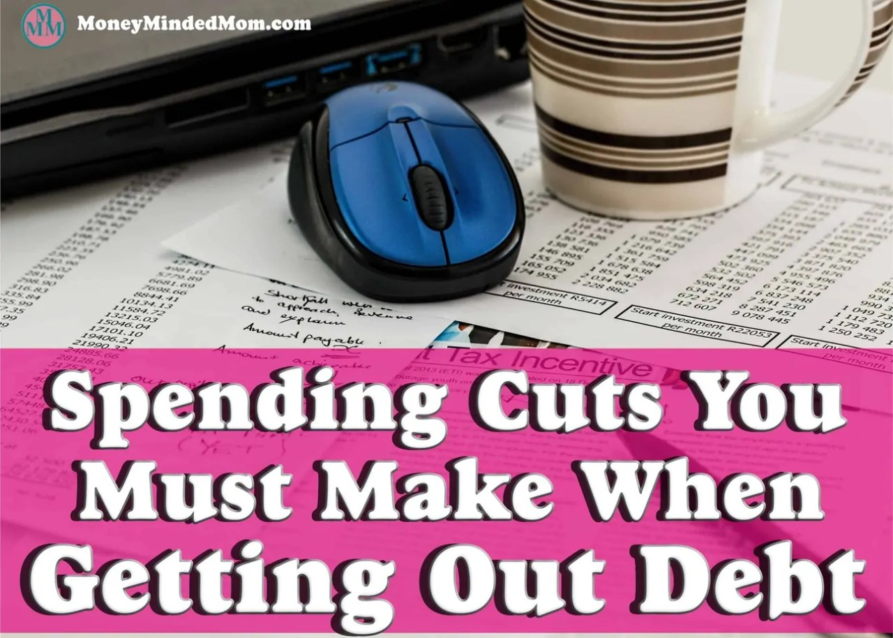 Debt Payoff ~ Spending Cuts You Must Make When Getting Out Of Debt ~ Getting out of debt is hard, if you want to have a better financial future the you are going to need to make sacrifices. There are some spending cuts that will need to be made to save money and control your budget. Read on for some great tips on how to control you spending to get out of debt.