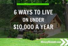 6 ways to live on under 10000 a year