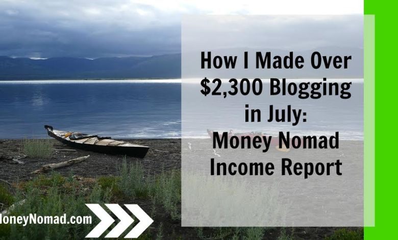 Money Nomad Blog Income Report July 2016