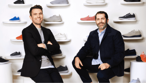 Picture of both Allbirds founders sitting down