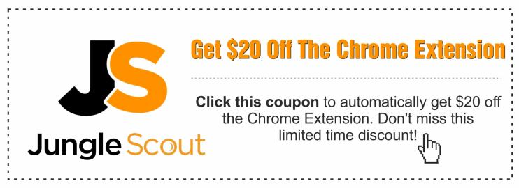 Coupon to get $20 off Jungle Scout Chrome Extension