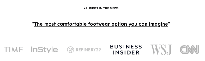Image showing that Allbirds was featured in the news