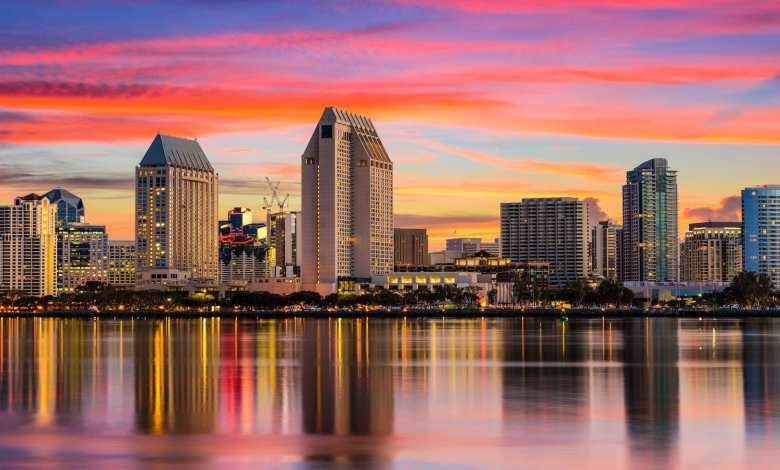 San Diego Skyline for Venture Capital Company