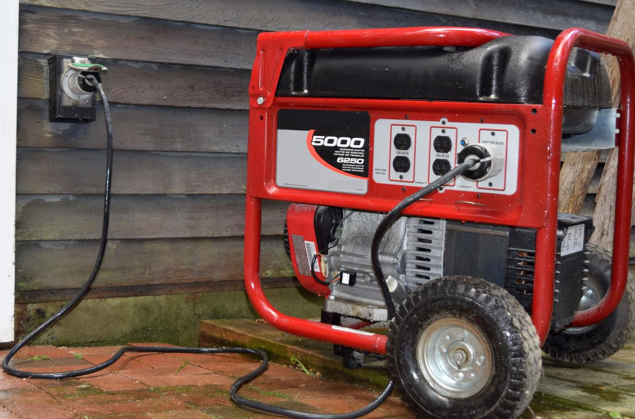Wiring Portable Generator Into House