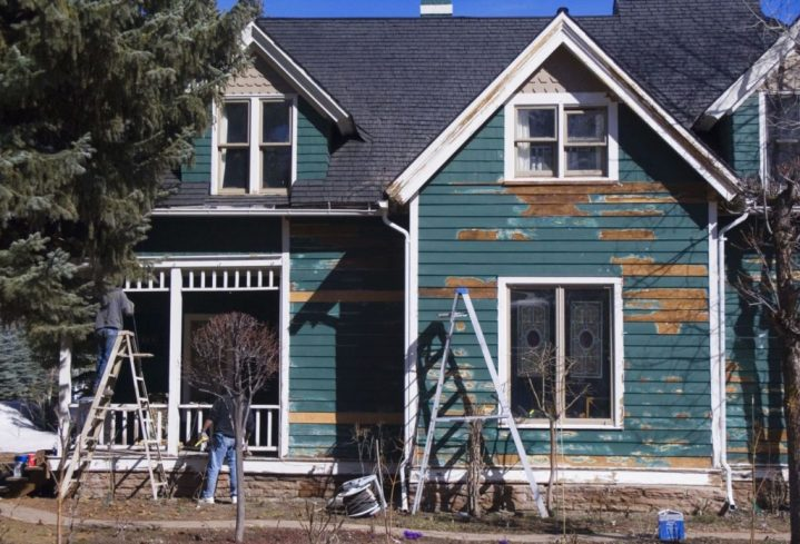 Old home being remodeled