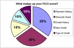 What makes up a FICO score