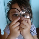 Two magnifying glasses
