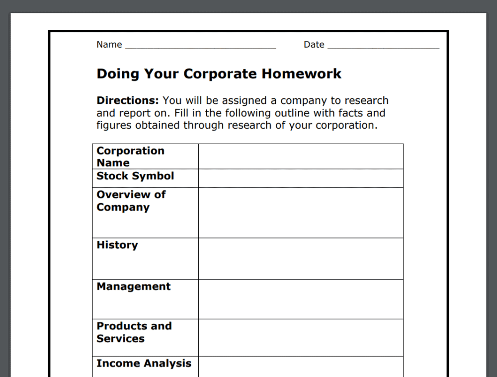 medium resolution of 17 Stock Market Worksheets PDFs (Plus Stock Market Lessons)