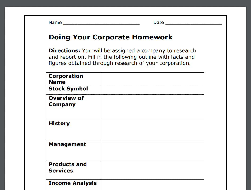 hight resolution of 17 Stock Market Worksheets PDFs (Plus Stock Market Lessons)