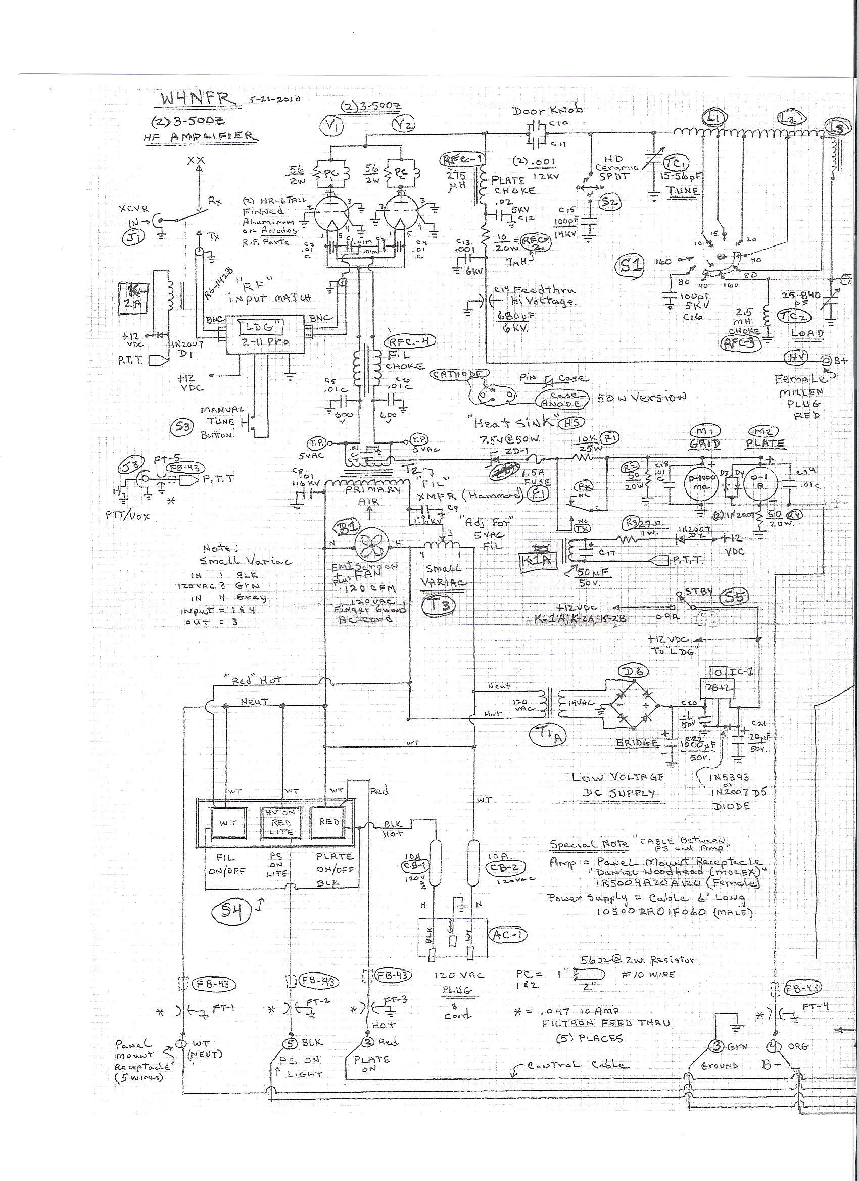 linear amplifier rf choke
