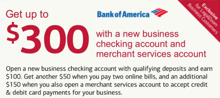 Bank of america personal checking 150 300 and business boa business 300 promotion reheart Image collections