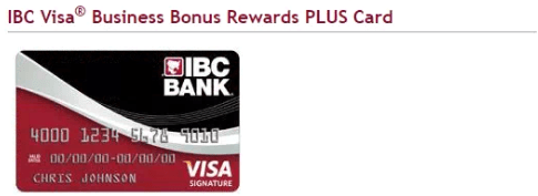 IBC Visa Business Bonus Rewards PLUS Card