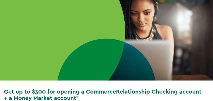Commerce Bank $300 Checking Savings Bonus