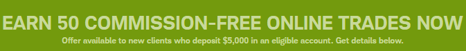 OptionsXpress Free Trades Promotion