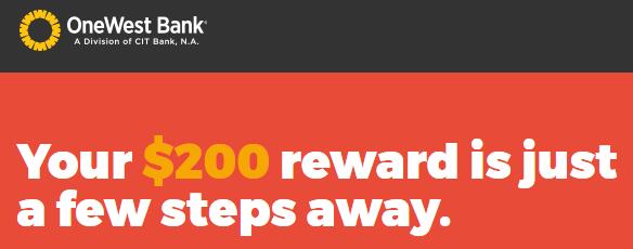 OneWest Bank $200 Checking Bonus