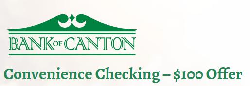 Bank Of Canton $100 Checking Bonus