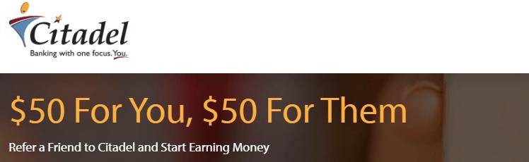 Citadel $50 Referral Bonus