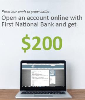 First National Bank Utah $200 Bonus