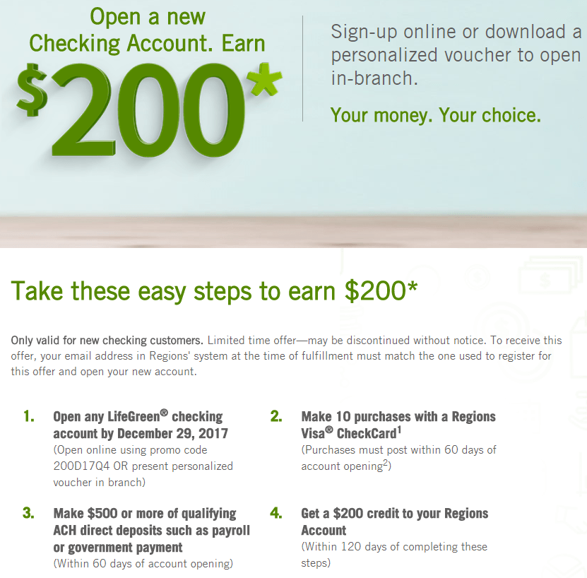 Regions Bank Personal Checking