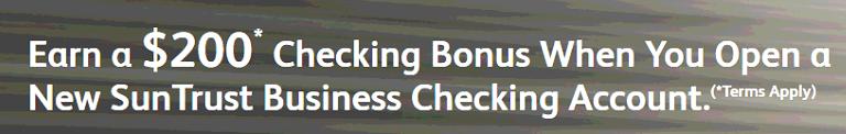 SunTrust Bank Business Checking $200 Bonus