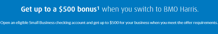 BMO Harris $500 Business Checking Bonus
