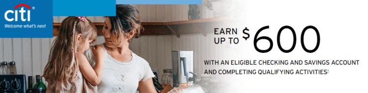 Citi $400 And $600 Checking Bonuses 2018