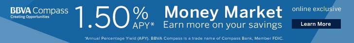 BBVA Compass 1.50 Money Market Offer