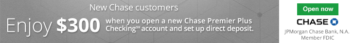 Chase Premier Plus Checking $300 Bonus