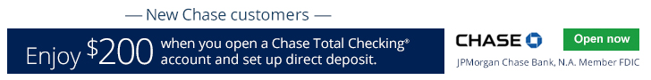 Chase Total Checking $200 Bonus 1