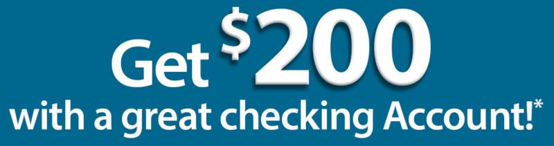 $200 Checking account bonus with Dollar Bank