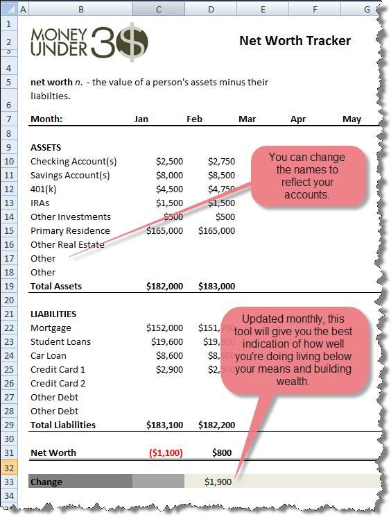 Free Net Worth Spreadsheet | Money Under 30