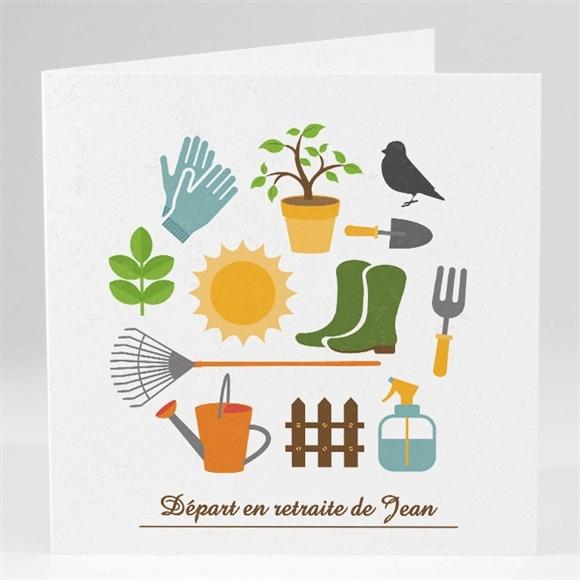 carte invitation depart a la retraite loisirs et jardinage