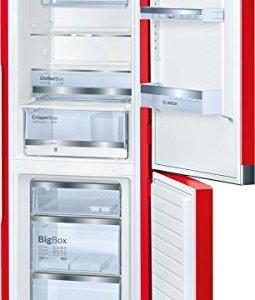 Bosch KCE40AR40 Réfrigérateur 214 L A+++ Rouge, Blanc