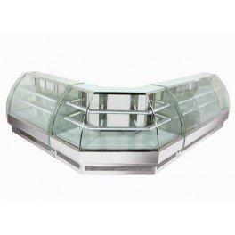 vitrine à pâtisseries professionnelle - revêtement chromé - 1,2 m - 518 litres - neuve - equipementpro