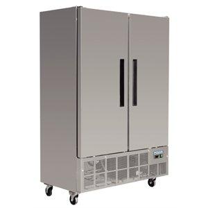 Réfrigérateur professionnel/ Armoire réfrigérée négative verrouillable, 2portes 960L Polar Inox. 2 portes.