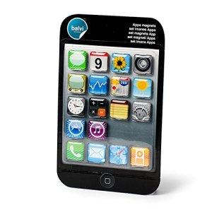 Balvi 25076 Magnets Apps iPhone Set de 18 aimants Multicolore Plastique