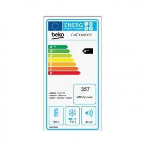 Beko GNE114630X Réfrigérateur 540 L