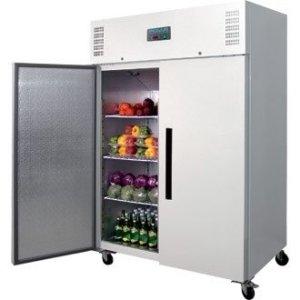 Réfrigérateur / Armoire réfrigérée positive gastronorme double porte Polar 1200L Blanc. Volume 1200L.