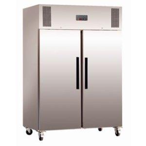 Réfrigérateur / Armoire réfrigérée positive gastro double porte Polar 1200L Extérieur en acier inoxydable. Volume 1200L.