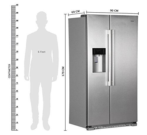 haier hrf628if6 frigo am ricain autonome argent am ricain a. Black Bedroom Furniture Sets. Home Design Ideas