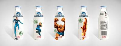 Got Milk's Marvel Fantastic Four Mockup